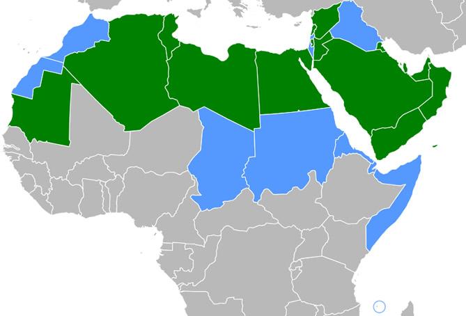 מדינות בהן מדברים ערבית